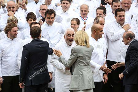 Emmanuel Macron, Brigitte Trogneux, Guy Savoy, Gerard Collomb, ministre de l'interieur