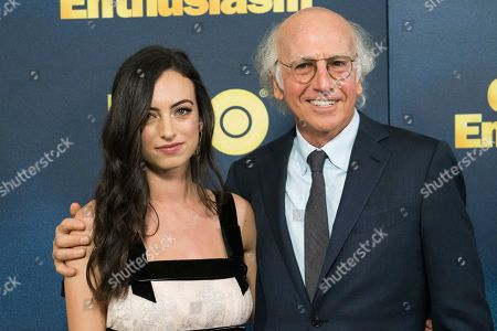 "Larry David, Cazzie David. Larry David and his daughter Cazzie David attend the premiere of HBO's ""Curb Your Enthusiasm"" at the SVA Theatre, in New York"