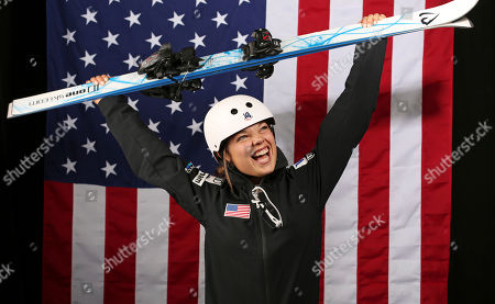 U.S. Olympic Winter Games freestyle skiing aerials hopeful Ashley Caldwell poses for a portrait at the 2017 Team USA media summit, in Park City, Utah