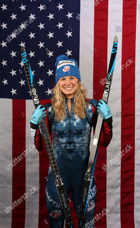 U.S. Olympic Winter Games cross-country skiing hopeful Jessie Diggins poses for a portrait at the 2017 Team USA media summit, in Park City, Utah