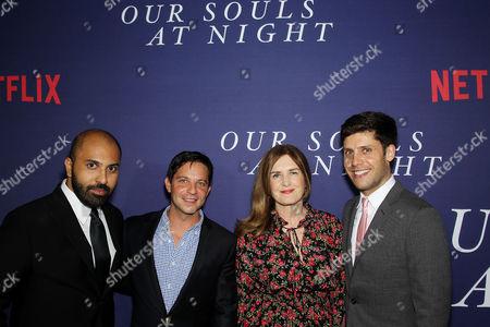 Stock Picture of Ritesh Batra (Director), Scott Neustadter (Screenwriter), Finola Dwyer (Producer), Michael H. Weber (Screenwriter)