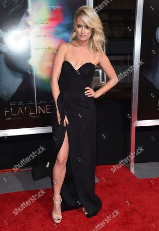 """Anna Arden arrives at the world premiere of """"Flatliners"""" at The Theatre at Ace Hotel, in Los Angeles"""