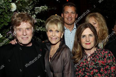 Robert Redford, Jane Fonda, Scott Stuber (VP Original Films Netflix), Finola Dwyer (Producer)