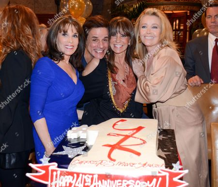 "Kate Linder, Christian Le Blanc, Jess Walton and Melody Thomas Scott seen at ""The Young And The Restless"" 41st Anniversary, on in Los Angeles, Calif"
