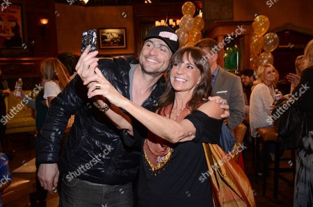 Jess Walton and Daniel Goddard pose for a selfie at 'The Young And The Restless' 41st Anniversary,, in Los Angeles