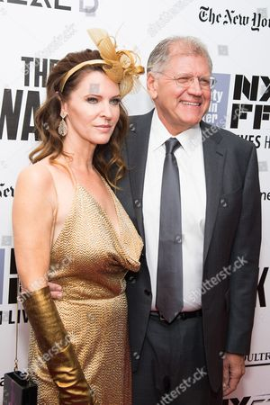 """Robert Zemeckis and Leslie Harter Zemeckis attend the New York Film Festival opening night gala premiere for """"The Walk"""" at Alice Tully Hall, in New York"""