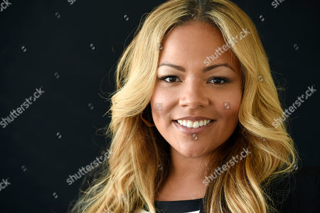 "Lauren Makk, one of the hosts of the lifestyle talk show ""FABLife,"" poses for a portrait during the 2015 Television Critics Association Summer Press Tour at the Beverly Hilton, in Beverly Hills, Calif"