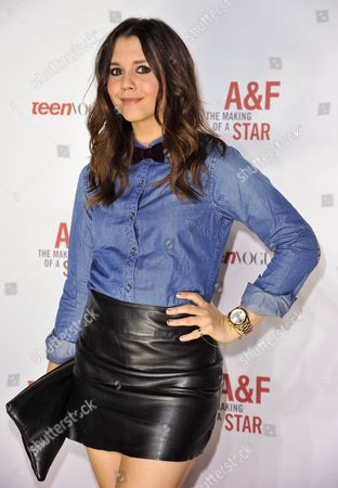 Alexandra Chando arrives at the Abercrombie & Fitch The Making of a Star Spring Campaign Party on Saturday, Feb, 22, 2014 in Los Angeles