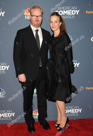 Stock Image of Jim Gaffigan and Jeannie Noth attend the American Comedy Awards at the Hammerstein Ballroom on in New York
