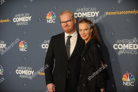 Stock Picture of Jim Gaffigan and Jeannie Noth attend the American Comedy Awards at the Hammerstein Ballroom on in New York