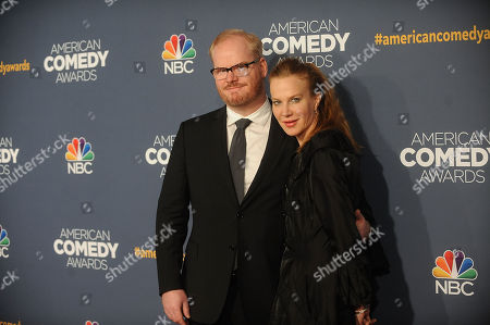 Jim Gaffigan and Jeannie Noth attend the American Comedy Awards at the Hammerstein Ballroom on in New York