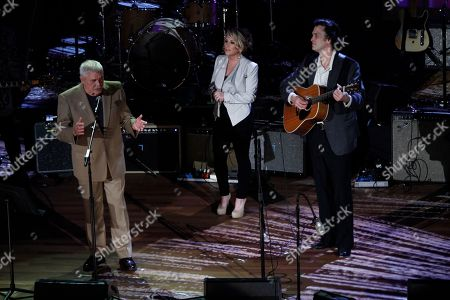Stock Photo of Tom T. Hall, left, performs with Peter Cooper, right, and Lee Ann Womack at the 11th annual Americana Honors & Awards, in Nashville