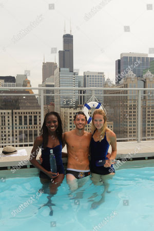 Hell's Kitchen star Brian Merel and models on in Chicago