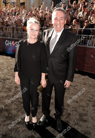 Genevieve Robert and Ivan Reitman are seen at the Los Angeles Premiere of Columbia Pictures' Ghostbusters at TCL Chinese Theatre, in Los Angeles