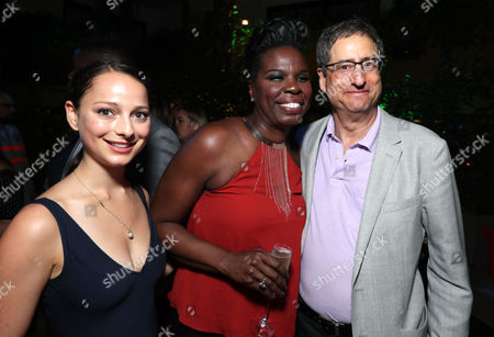 Nora Rothman, Leslie Jones, and CEO of Sony Pictures Entertainment Tom Rothman are seen at the Los Angeles Premiere of Columbia Pictures' Ghostbusters at TCL Chinese Theatre, in Los Angeles