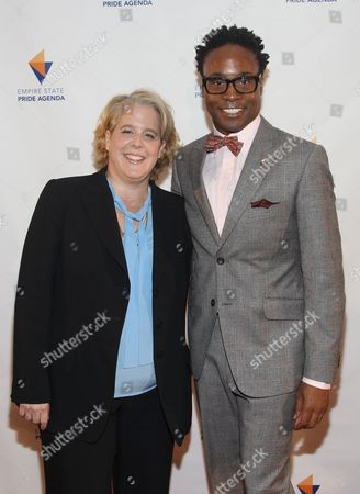 Roberta Kaplan and Billy Porter attend the Empire State Pride Agenda 22nd Annual Fall Dinner on in New York