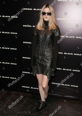 Musician Ioanna Gika attends the MBFW 2014 Fall/Winter Diesel Black Gold fashion show, on in New York