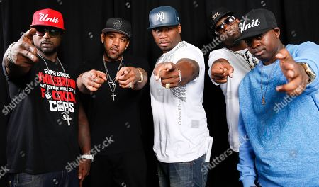 Curtis Jackson This photo shows American rapper, entrepreneur and actor 50 Cent, center, posing for a portrait with G-Unit members Young Buck, Lloyd Banks, Tony Yayo and Kidd Kidd in New York