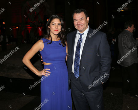 """Mizuo Peck and Patrick Gallagher attend the after party of """"Night at the Museum: Secret of the Tomb"""" at the American Museum of Natural History on in New York"""
