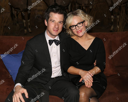 """Christian Hebel and Rachael Harris attend the after party of """"Night at the Museum: Secret of the Tomb"""" at the American Museum of Natural History on in New York"""