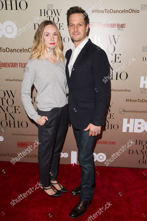 """Sophie Flack and Josh Charles attends the premiere of HBO's """"How To Dance In Ohio"""" at the Time Warner Center, in New York"""