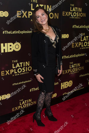 """Judith Giuliani attends the premiere of the HBO documentary, """"The Latin Explosion: A New America"""", at the Hudson Theatre, in New York"""