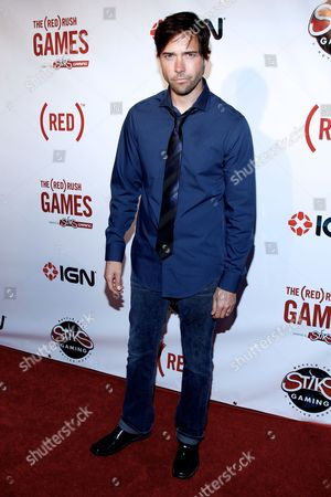 Andrew Bowen arrives at the (RED)Rush Games on in Los Angeles