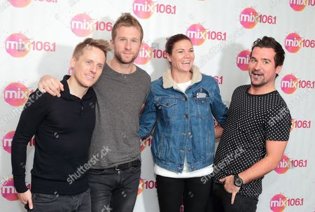 Stock Picture of Chris Durling, from left, Danny Bemrose, Aimee Driver and David Nowakowski of the band Scars on 45 visit the Mix 106 Performance Theater, in Philadelphia