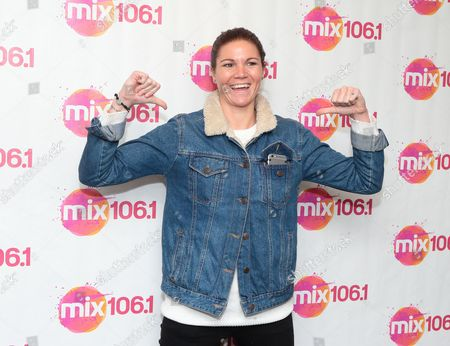 Aimee Driver of the band Scars on 45 visits the Mix 106 Performance Theater, in Philadelphia