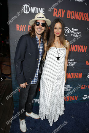 Cisco Adler and Barbara Stoyanoff pictured at SHOWTIME and Time Warner Cable's Ray Donovan Season 2 premiere on Wednesday, July 9 at Nobu in Malibu, Calif