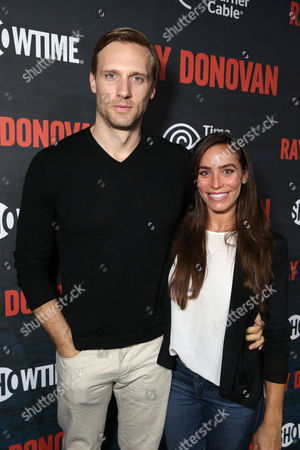 Teddy Sears and Milissa Sears pictured at SHOWTIME and Time Warner Cable's Ray Donovan Season 2 premiere on Wednesday, July 9 at Nobu in Malibu, Calif