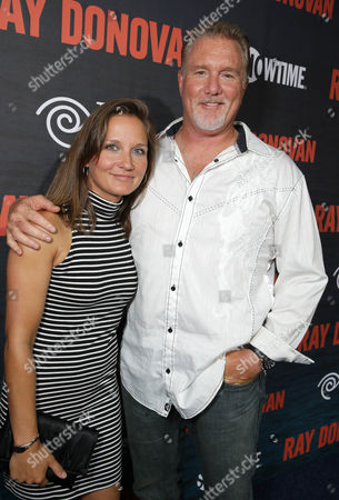 Ilka McGrady and Michael McGrady pictured at SHOWTIME and Time Warner Cable's Ray Donovan Season 2 premiere on Wednesday, July 9 at Nobu in Malibu, Calif