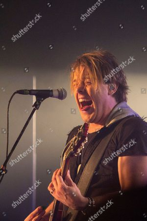 Shimon Moore of Sick Puppies performing as part of The Hottest Chicks in Hard Rock Tour at The Masquerade, in Atlanta