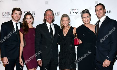 Viktor Hammer, Angie Hammer, Michael Armand Hammer, Armie Hammer, Dru Hammer, Elizabeth Chambers Hammer, and Armie Hammer (L-R) arrive at Stop Cancer's Annual Gala at the Beverly Hilton Hotel on in Beverly Hills, California