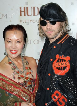 Sue Wong arrives at The Art of Elysium's 5th Annual Genesis at Siren Cube on in Los Angeles