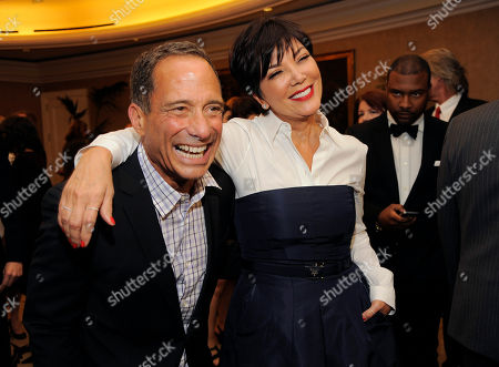 TMZ.com founder Harvey Levin, left, poses with Kris Jenner at the Brady Campaign to Prevent Gun Violence Los Angeles Gala at The Beverly Hills Hotel on in Beverly Hills, Calif