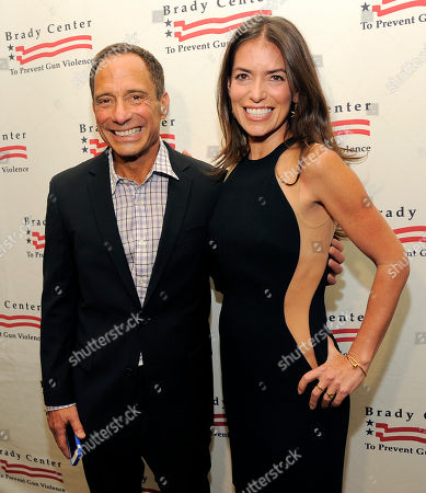 Honoree Laura Wasser, right, poses with TMZ.com founder Harvey Levin at The Brady Campaign to Prevent Gun Violence Los Angeles Gala at The Beverly Hills Hotel on in Beverly Hills, Calif