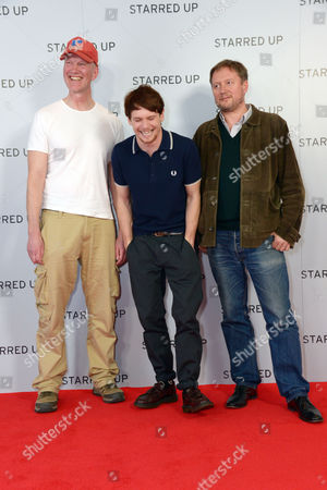 "Writer Jonathan Asser, actor Jack O'Connell and Director David McKenzie arrive at the UK Screening of ""Starred Up"" at Hackney Picture House in London on Tuesday, March. 18th, 2014"