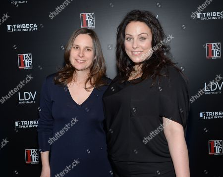 """Tribeca Film Institute executive director Beth Janson, left, and First Time Fest co-founder Johanna Bennett attend the 20th anniversary screening of """"A Bronx Tale"""" presented by First Time Fest and Tribeca Film Institute on in New York"""
