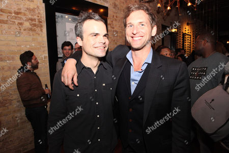 Stephen Plunkett and Josh Lucas seen at Mend SXSW After-party at Supper Suite By STK hosted by Blue Moon Brewing Co. on in Austin, Texas