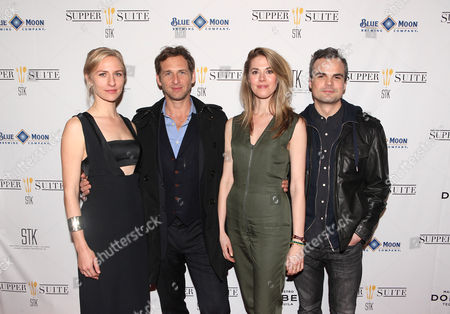 Mickey Sumner, Josh Lucas, Lucy Owen and Stephen Plunkett seen at Mend SXSW After-party at Supper Suite By STK hosted by Blue Moon Brewing Co. on in Austin, Texas