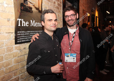 Stephen Plunkett and Anthony Grippa seen at Mend SXSW After-party at Supper Suite By STK hosted by Blue Moon Brewing Co. on in Austin, Texas