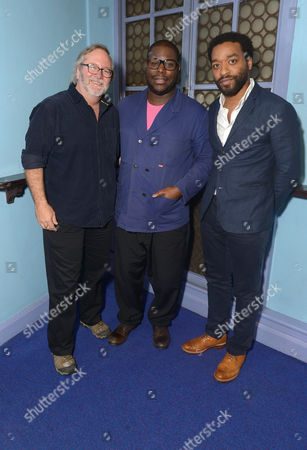 """Director Steve McQueen, actor Chiwetel Ejiofo and cinematographer Sean Bobbitt attend the special screening of """"12 Years a Slave"""" at The Cineworld, Haymarket on Sun, . in London, England"""