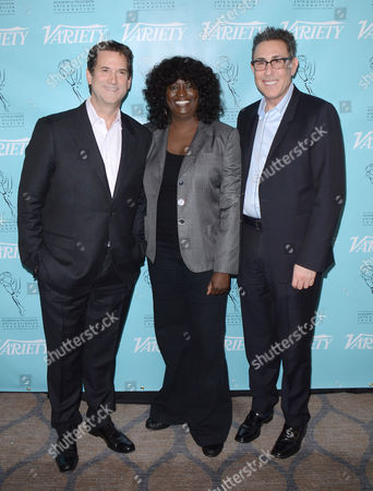 UNIVERSAL CITY, CA - MARCH 21: (L-R) Michael Wright, Loretha Jones and Marc Juris attend the 2013 TV Summit Presented by Variety and the Academy of Television Arts & Sciences Foundation at the Sheraton Universal Hotel on in Universal City, California