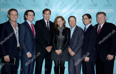 Stock Photo of UNIVERSAL CITY, CA - MARCH 21: (L-R) Harris Whitbeck, Steven Wolfe Pereira, Emiliano Saccone, Diana Mogollon, Michael Schwimmer, Gil Goldschein, Danny Villanueva attend the 2013 TV Summit Presented by Variety and the Academy of Television Arts & Sciences Foundation at the Sheraton Universal Hotel on in Universal City, California
