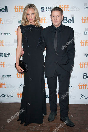 """Actor Rachel Roberts and director Andrew Niccol seen at the premiere of """"Good Kill"""" at the Ryerson Theatre during the 2014 Toronto International Film Festival, in Toronto, Ontario"""