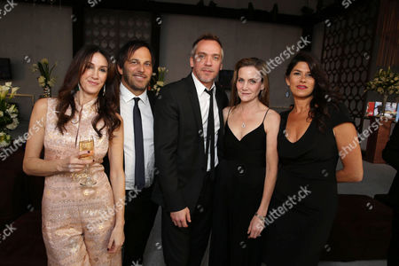 """Producer Rachel Winter, Executive Producer Nathan Ross, Director Jean-Marc Vallee, Screenplay Writer Melisa Wallack and Producer Robbie Brenner seen at the 71st Annual Golden Globe Awards â?"""" NBC/Universal/Focus Features/E! Entertainment/Chrysler After Party on in Los Angeles"""