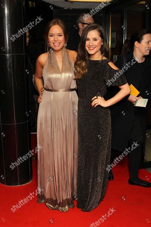 Tanya Burr and Electra Formosa arrive at Dallas Buyers Club UK Premiere at the Curzon Mayfair,, in London