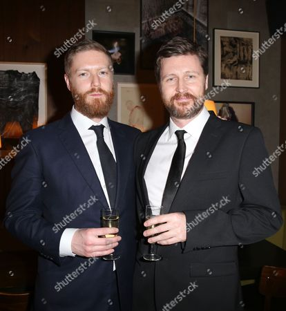 Producer Tristan Goligher and director Andrew Haigh at the afterparty for the film 45 years during the 2015 Berlinale Film Festival in Berlin