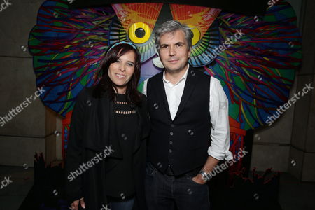 """Director Jane Lipsitz and Director Dan Cutforth seen at Focus Features """"Under The Electric Sky"""" Screening at Arclight Hollywood, in Hollywood, CA"""